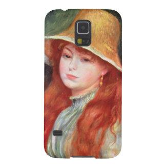 Capa Para Galaxy S5 Pierre uma rapariga de Renoir   em um chapéu de