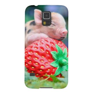 Capa Para Galaxy S5 porco da morango