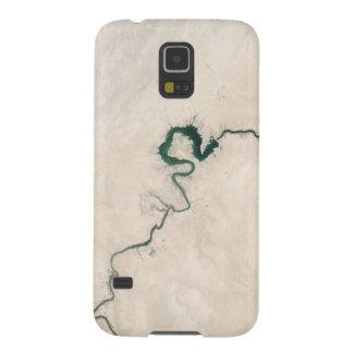 Capa Para Galaxy S5 Rachadura da antena do rio do deserto