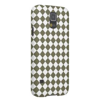 Capa Para Galaxy S5 Teste padrão da verificação do diamante do verde
