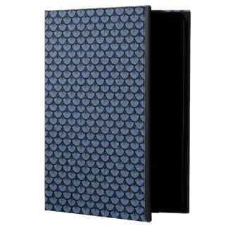 CAPA PARA iPad AIR 2  MÁRMORE SCALES3 PRETO & SARJA DE NIMES AZUL (R)