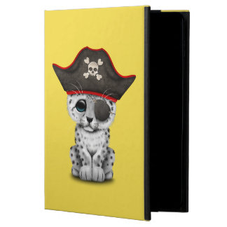 Capa Para iPad Air 2 O leopardo de neve bonito Cub do bebê pirateia