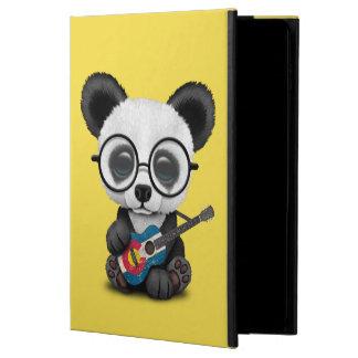 Capa Para iPad Air 2 Panda do bebê que joga a guitarra da bandeira de