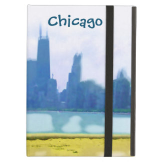 Capa Para iPad Air Ar dos arranha-céus de Chicago escovado