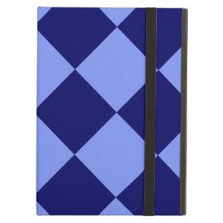 Capa Para iPad Air Azul de Diag grande - luz - e azul escuro