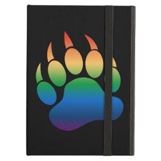 Capa Para iPad Air Bandeira alegre do arco-íris da pata de urso