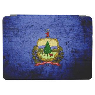 Capa Para iPad Air Bandeira preta do estado de Vermont do Grunge