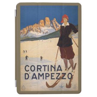 Capa Para iPad Air Cobrir do dispositivo das viagens vintage do esqui