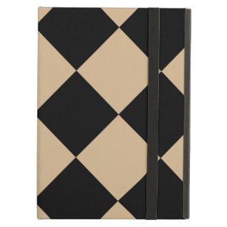 Capa Para iPad Air Grande Checkered de Diag - preto e Tan