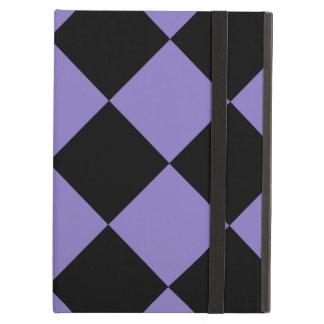 Capa Para iPad Air Grande Checkered de Diag - preto e Ube
