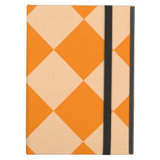 Capa Para iPad Air Grande-Luz Checkered de Diag alaranjada e