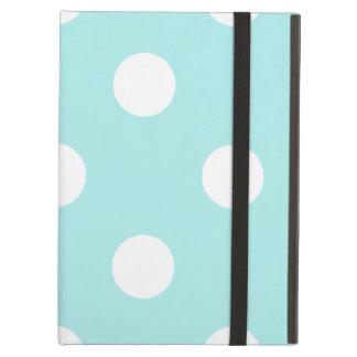 Capa Para iPad Air Grandes bolinhas - branco em azul pálido