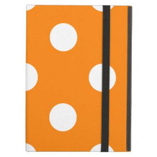 Capa Para iPad Air Grandes bolinhas - branco na laranja