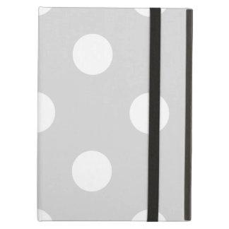 Capa Para iPad Air Grandes bolinhas - branco na luz - cinzas