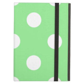 Capa Para iPad Air Grandes bolinhas - branco na luz - verde