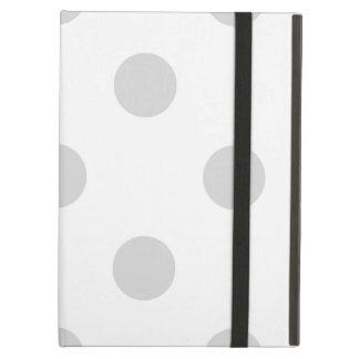 Capa Para iPad Air Grandes bolinhas - luz - cinzas no branco
