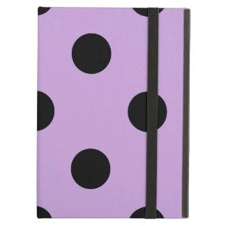 Capa Para iPad Air Grandes bolinhas - preto em glicínias