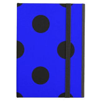 Capa Para iPad Air Grandes bolinhas - preto no azul