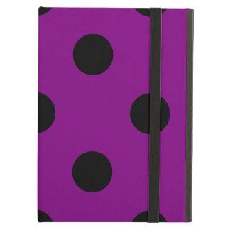 Capa Para iPad Air Grandes bolinhas - preto no roxo