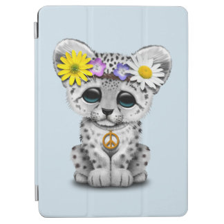 Capa Para iPad Air Leopardo de neve bonito Cub do Hippie