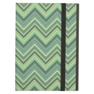 Capa Para iPad Air Listras do ziguezague da verde azeitona