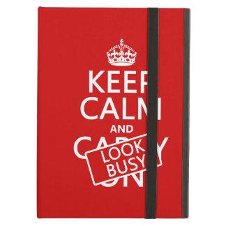 Capa Para iPad Air Mantenha a calma e olhe ocupado (alguma cor)