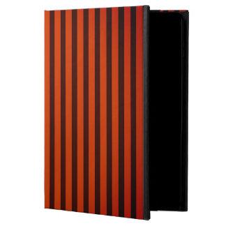 Capa Para iPad Air O Dia das Bruxas preto e laranja listrada