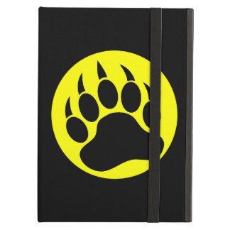 Capa Para iPad Air Pata preta e amarela do orgulho do urso de urso