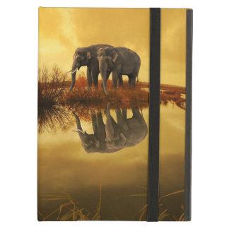 Capa Para iPad Air Por do sol dos elefantes