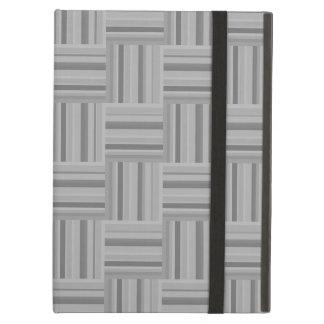 Capa Para iPad Air Teste padrão cinzento do weave das listras