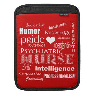 Capa Para iPad Enfermeira-Atributos psiquiátricas/vermelho do