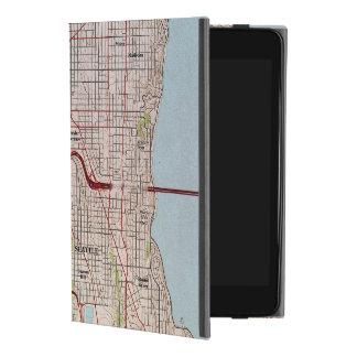 Capa Para iPad Mini 4 Mapa topográfico da cidade de Seattle