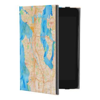 Capa Para iPad Mini 4 Seattle e mapa da aguarela de Puget Sound