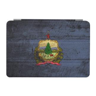 Capa Para iPad Mini Bandeira do estado de Vermont na grão de madeira