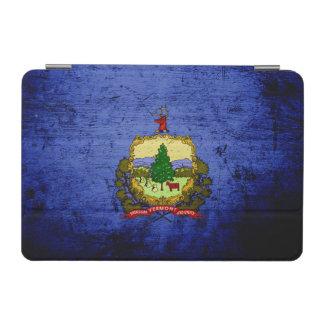 Capa Para iPad Mini Bandeira preta do estado de Vermont do Grunge