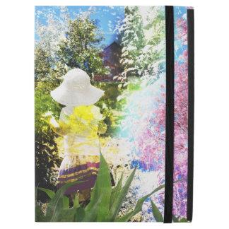 """Capa Para iPad Pro 12.9"""" Amarelo azul da flor do rosa da colagem da"""