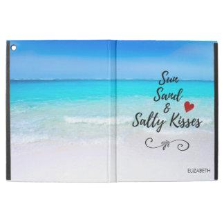 """Capa Para iPad Pro 12.9"""" Areia de Sun e praia tropical dos beijos salgados"""