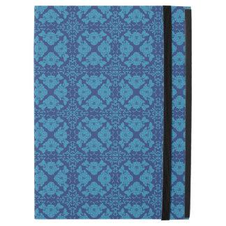 """Capa Para iPad Pro 12.9"""" Azul floral geométrico do vintage no azul"""