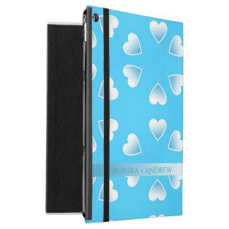 """Capa Para iPad Pro 12.9"""" Corações azuis pequenos bonito. Adicione seu"""