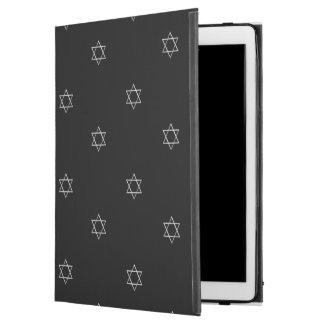 """Capa Para iPad Pro 12.9"""" estrela de David 3-D da prata do olhar"""