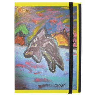 """Capa Para iPad Pro 12.9"""" golfinho no por do sol"""