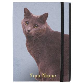 "Capa Para iPad Pro 12.9"" Olhar fixamente do gato azul do russo"