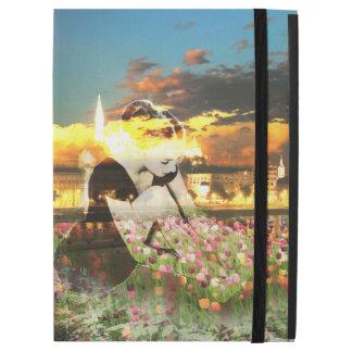 """Capa Para iPad Pro 12.9"""" Tulipas do rosa da cidade do ouro do dançarino da"""