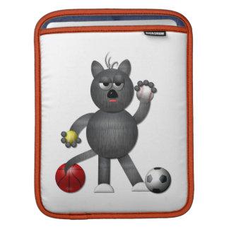 """Capa Para iPad Refrigere o atleta """"3-D"""" do gato de beco"""