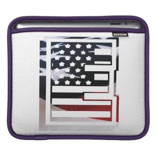 Capa Para iPad Teste padrão da bandeira dos EUA da inicial do