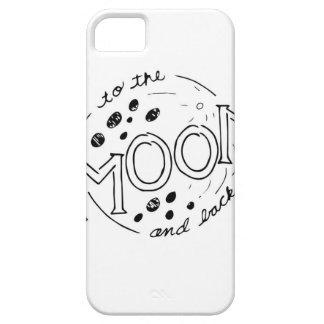 Capa Para iPhone 5 À lua e ao design traseiro dos desenhos animados