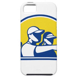 Capa Para iPhone 5 Apontar do Caddie e do jogador de golfe retro