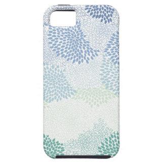 "Capa Para iPhone 5 Azul estourado ""flor"""