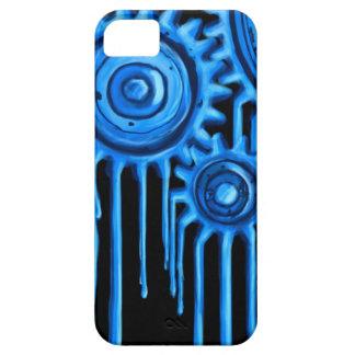 Capa Para iPhone 5 Caixa de derretimento azul legal das engrenagens