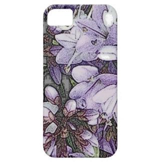 Capa Para iPhone 5 Caixa floral roxa do iPhone 5 do teste padrão um